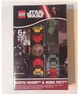 New Authentic Disney LEGO StarWars Buildable Watch+Toy Darth Vader+Boba ... - $43.99