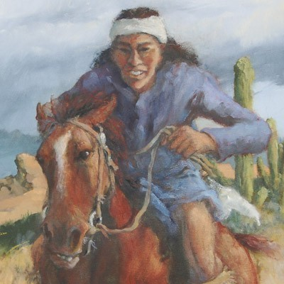 Superstition Downs - Southwest Indian Painting Limited Edition Giclee Print