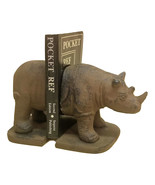 Rhino Bookends Heavy Cast Iron Africa Decor Vintage Look Library Books gift - $29.99