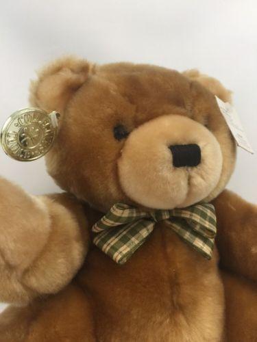 "Brown Plush Teddy Bear Dan Dee Collector's Choice 11"" with Tag Stuffed Animal"