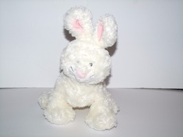 "Webkinz Jr White Bunny Rabbit Embroidered Sewn Eyes Plush 10"" Ganz NO CODE - $9.79"