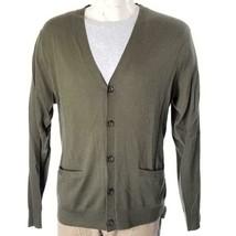 Polo Ralph Lauren Men's Cardigan Sweater Cashmere Olive Sz XL NWT $298 - $179.07