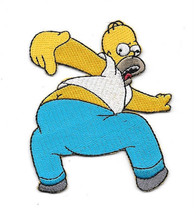 Simpsons TV Series Homer Simpson Kiss My Butt Embroidered Patch, NEW UNUSED - $7.84