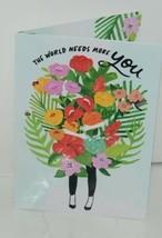 Hallmark World Needs More You Birthday Cards Anyone Set of 4 Same Card image 2