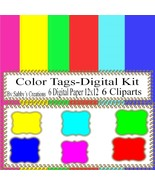 Tags Digital Kit 1A-Digtial Paper-Art Clip-Gift Tag-Jewelry-T shirt-Note... - $5.00