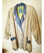 Genuine Leather Vintage Jacket Woman Retro Brown Autumn Winter Spring Me... - $35.00
