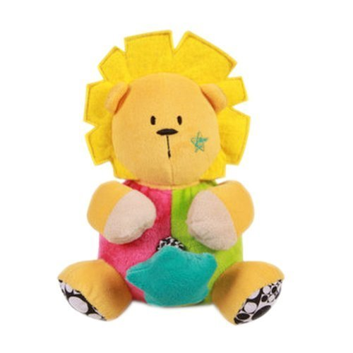 Yellow Lion Toddler Shaking Plush Toys Cute Baby Stuffed Animals Infant Toys