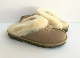 UGG COQUETTE SAND SHEARLING MOCASSIN SLIPPERS US 10 / EU 41 / UK 8 - $111.27