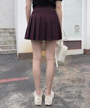 Women Girls Black Pleated Skirt Plus Size Black Pleated Mini Skirt Tennis Skirt image 7