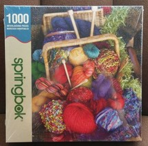 """Springbok """"Knitters Delight"""" 1000 Pieces Jigsaw Puzzle 24x30 Sealed Sewi... - $39.59"""