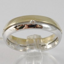 White Gold Ring Yellow 750 18K, Faith Engagement with Diamonds 0.05, Alternating image 1
