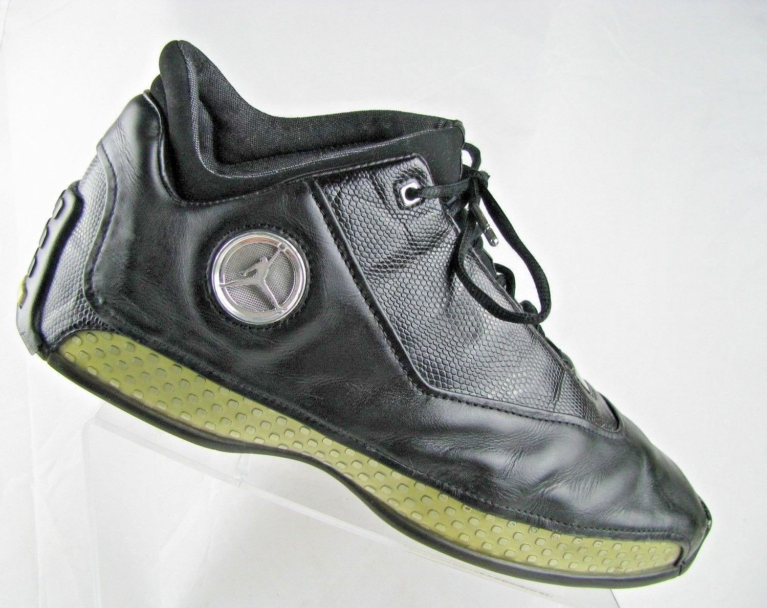 Primary image for RARE Nike Air Jordan 18 XVIII Low Black Chrome Metallic Silver Sz 13 306151-001