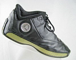 RARE Nike Air Jordan 18 XVIII Low Black Chrome Metallic Silver Sz 13 306... - $108.85