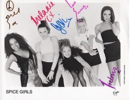 Spice Girls Full Group Signed Photo 8X10 Rp Autographed All Members - $19.99