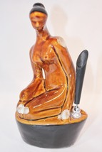 Nude Woman Pen Holder Porcelain Risque Naked Se... - $29.01