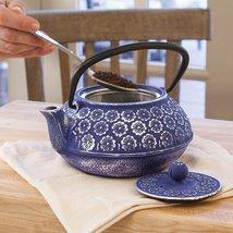 Primula Floral 34 oz. Cast Iron Teapot - $51.99