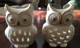 Lenox Votive Candle Holders The Owl Votives Set of 2 Owl Candle Figurines - $7.19