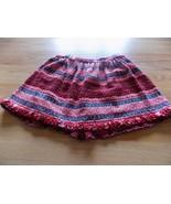 Girls Size 10 Love U Lots Red Gray White Mini Short Skirt EUC - $15.00