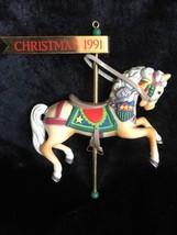 Vintage ENESCO 1991 Santa's Steed Carousel Horse Series Christmas Ornament #2 - $12.19