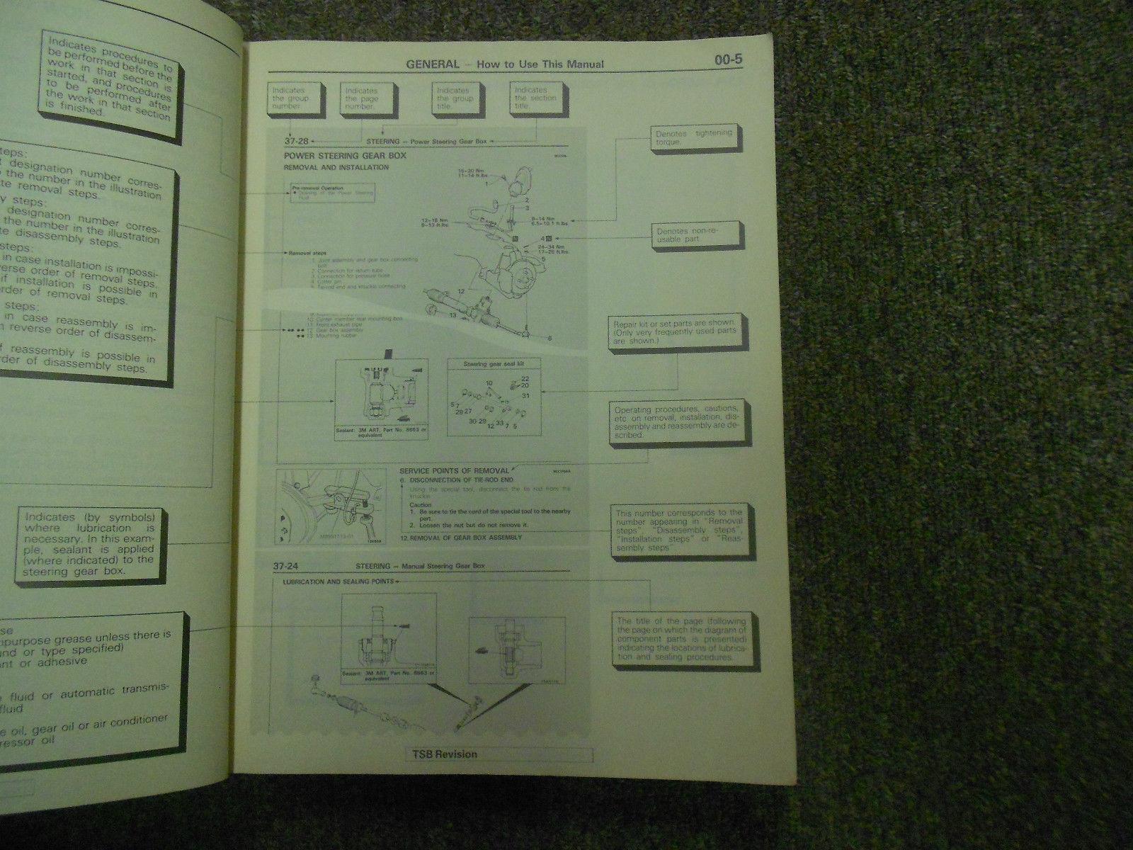 1990 MITSUBISHI Van Wagon Service Shop Manual Volume 1 Engine Chassis Body OEM