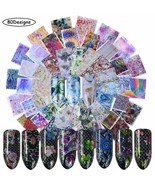 Nail Foil Transfers Nail Art Stickers Decals 80 Designs Nail Foils Stick... - $15.83