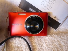 Samsung ST72 Red 16.2MP Digital Camera Pictures Video Point & Shoot Orig... - $84.15