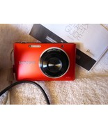 Samsung ST72 Red 16.2MP Digital Camera Pictures Video Point & Shoot Orig... - $85.00