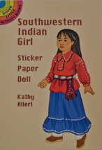 Southwestern Indian Girl Sticker Paper Doll Dover Activity Book Kathy Al... - $9.99