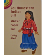 Southwestern Indian Girl Sticker Paper Doll Dover Activity Book Kathy Al... - £7.95 GBP