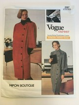 Vogue Nipon Botique Vintage 2357 Misses Dress Sewing Pattern Sz 10 1989 ... - $14.99