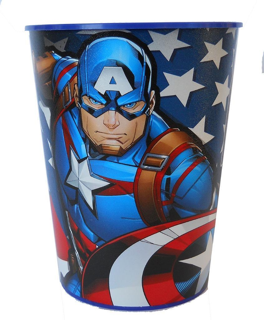 Captain America Stadium Keepsake Favor 16 oz Cup with American Flag 1 Count New