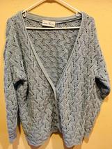 Cotton Forever Women's Size L Blue Open Knit Sweater - $15.83