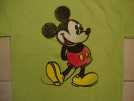Walt Disney World Disneyland Mickey Mouse Character Lime Green T Shirt S - $15.53