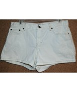 AEO American Eagle Size 8 White Denim 5 Pocket Shorts - $6.29