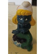 Vintage SMURFS Smurf SMURFETTE Mermaid mini PVC Figure toy - $19.99
