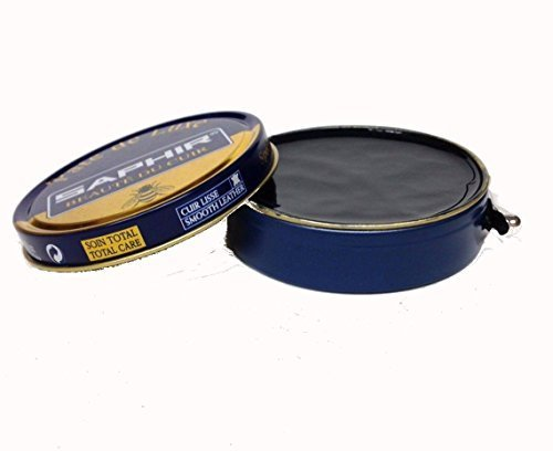 Saphir Shoe Polish Pate de Luxe 50ml Tin - Made in France - Blue Line (Navy Blue