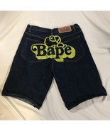 Bape A Bathing Ape Denim Shorts Men's Size 38 - $98.99