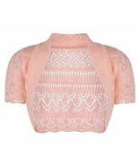 Girls Kids Crochet Short Sleeve Knitted Bolero Shrug Age 2-14 Years (Age... - $6.45