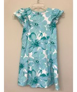 Gymboree Girls 8 Dress Blue Floral Ruffle Short Sleeve - $11.88