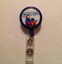 Santana Badge Reel Id Holder multi color alligator clip handmade new - $6.95