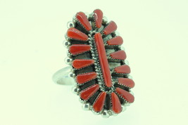 Ring Zuni sterling silver and coral - $160.00