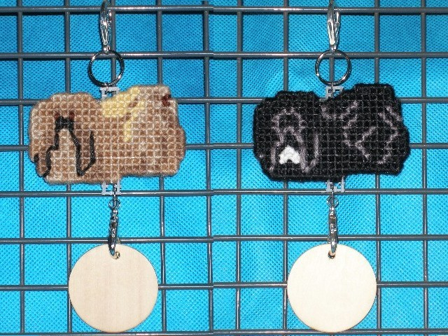 Pekingese dog crate tag or hang it anywhere, hand stitched, choose your color
