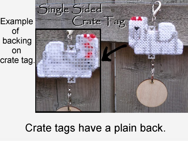 Dandie Dinmont Terrier dog crate tag or hang anywhere, handmade, color options