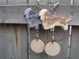 Dandie Dinmont Terrier dog crate tag or hang anywhere, handmade, color o... - $17.00