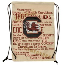 South Carolina Gamecocks Historic NCAA Canvas Drawstring Backpack - $14.24