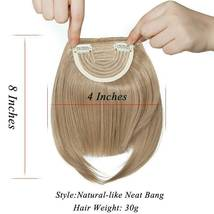 100% Natural Thin Bangs Fringe Clip in Hair Extensions Front Bangs image 5
