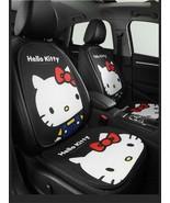 Hello Kitty Cartoon Car Seat Covers Set Universal Car Interior Black Sum... - $113.84