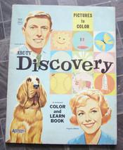 ABC TV Discover Color & Learn Book Saalfield Artcraft 1963 - $18.00