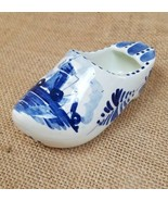 Vintage Delft 3 point ashtray ceramic Dutch Holland shoe hand painted wi... - $20.79