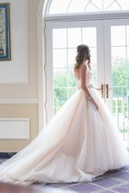 Vintage Light Pink Organza Wedding Dress China  Beaded Women Bridal Gowns 2019 - $189.99